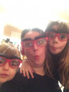 Being silly with my girls.