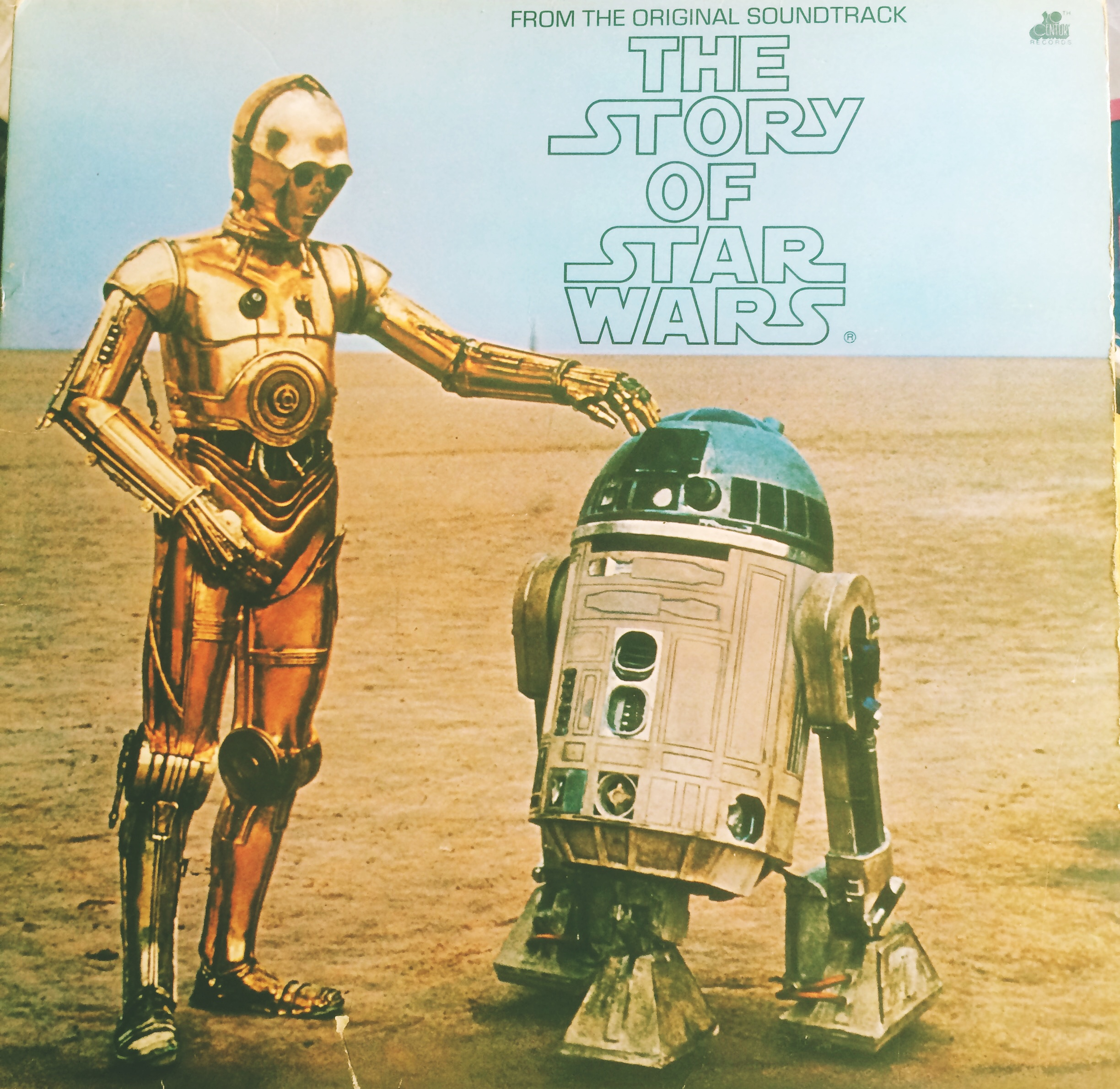 A picture of my Star Wars story album. Not the musical soundtrack, the film on vinyl, to listen to.