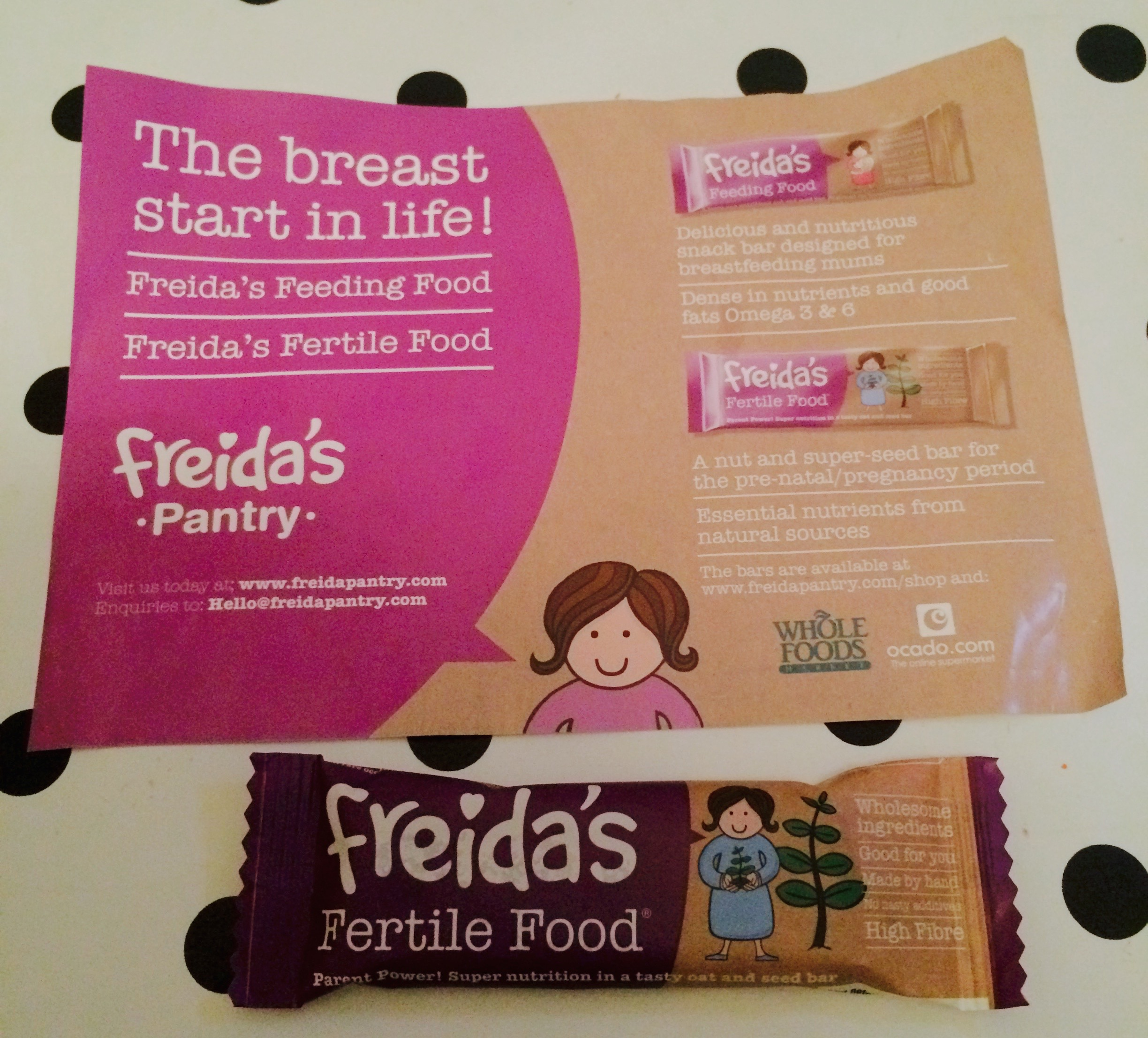 Freida's Pantry Fertile Bars