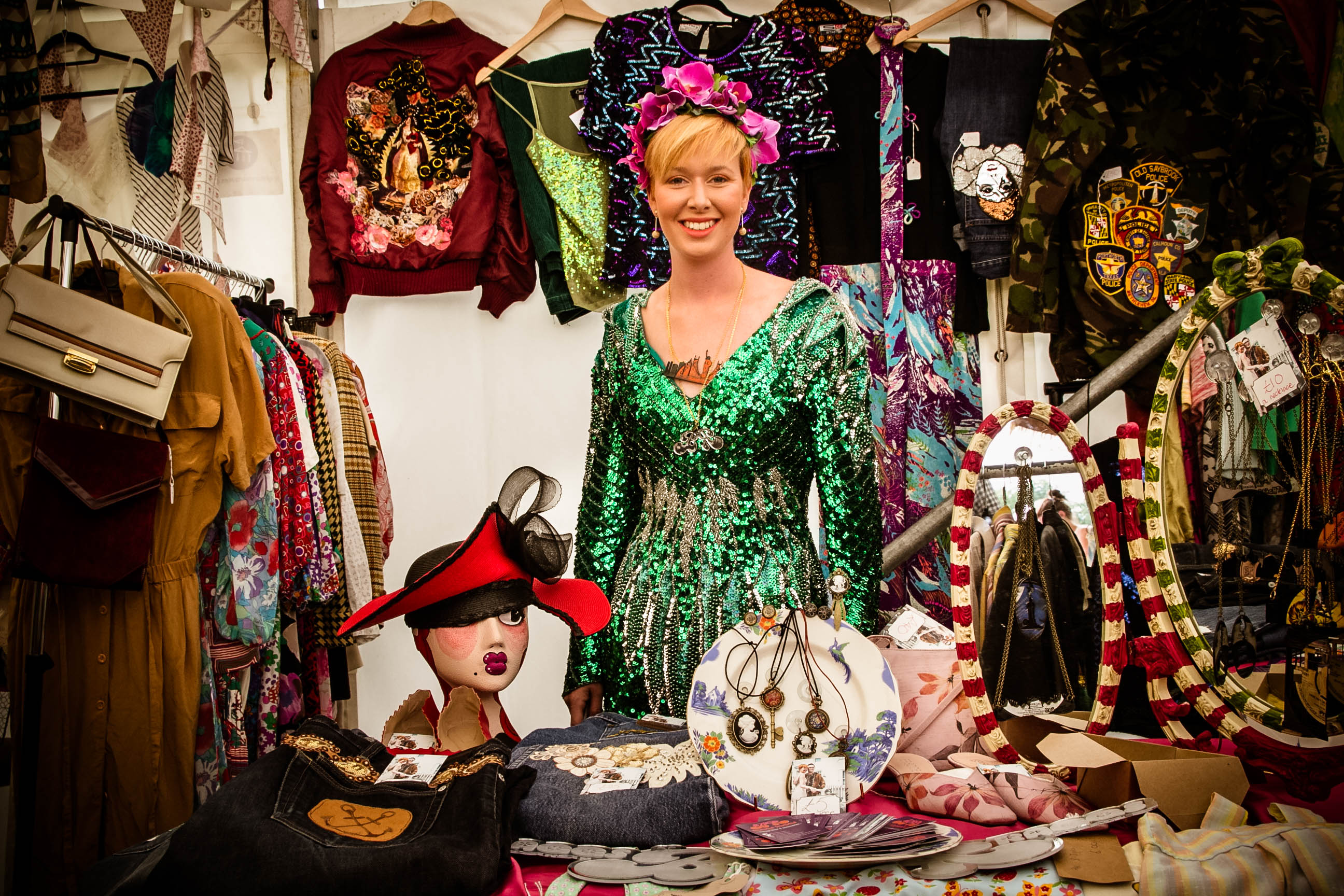 Rosie Baggs, Baggs Raggs Stall 2016. Photo by Allan  Staples