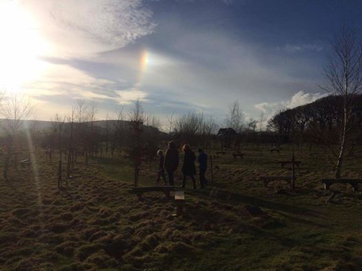 The 'sunbow' that appeared after we laid him to rest.