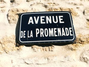 french street sign
